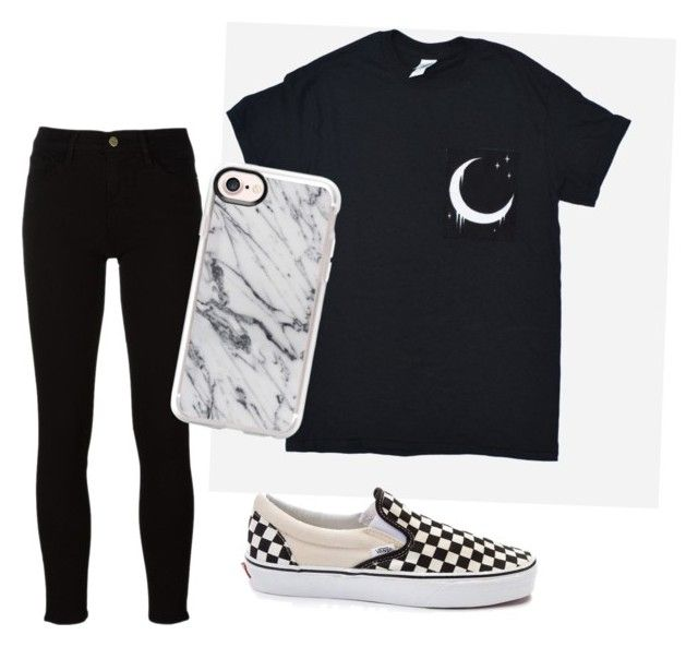 """""""Untitled #5"""" by tamas-erdos ❤ liked on Polyvore featuring Frame, Vans, Casetify, men's fashion and menswear"""