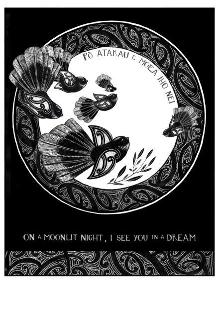 """Po Atarau""  New Zealand Art Print, limited edition of 100."