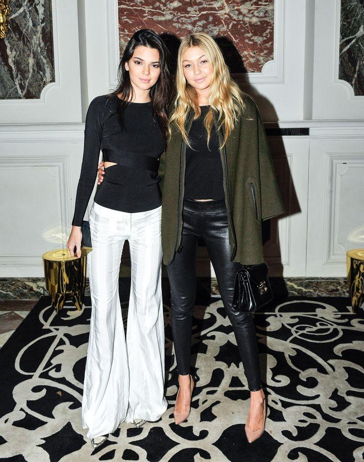 Kendall and Gigi Hadid at the Balmain afterparty.