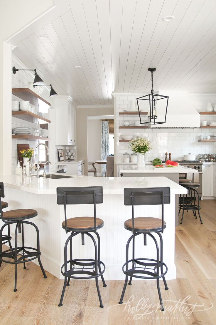 Finally more Before and Afters of this wonderful home. To see full gallery go here. The kitchen alone is jaw-dropping. Cabinets were removed and shiplap added to ceiling along with new range and counters that look like marble but perform like near steel!(I will share some sources in time) This home proves you can add charm to life …