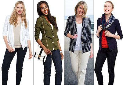 Our Light Knit Blazer looks great with everything!   #AvaGrayDirect #FashionTips #StyleGuide #ootd
