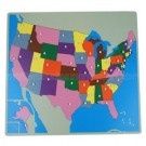USA Puzzle Map Without Frame Geography