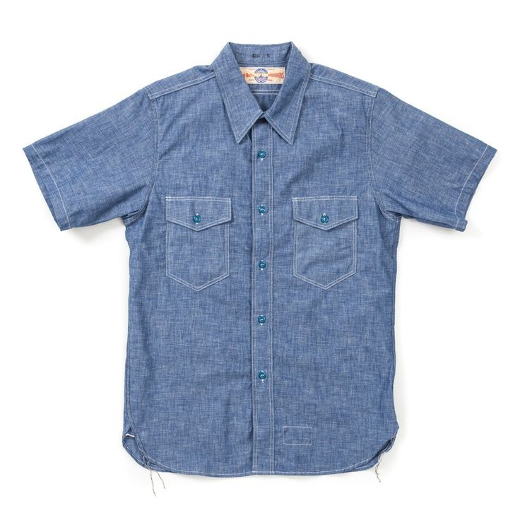 The Real McCoy's U.S. Navy Chambray S/S Shirt - Plain (New Fit) - SHIRTS - CATEGORIES - Superdenim