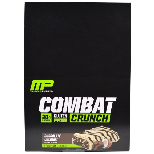 sports-fitness-athletic: Muscle Pharm, Combat Crunch, Chocolate Coconut, 12...