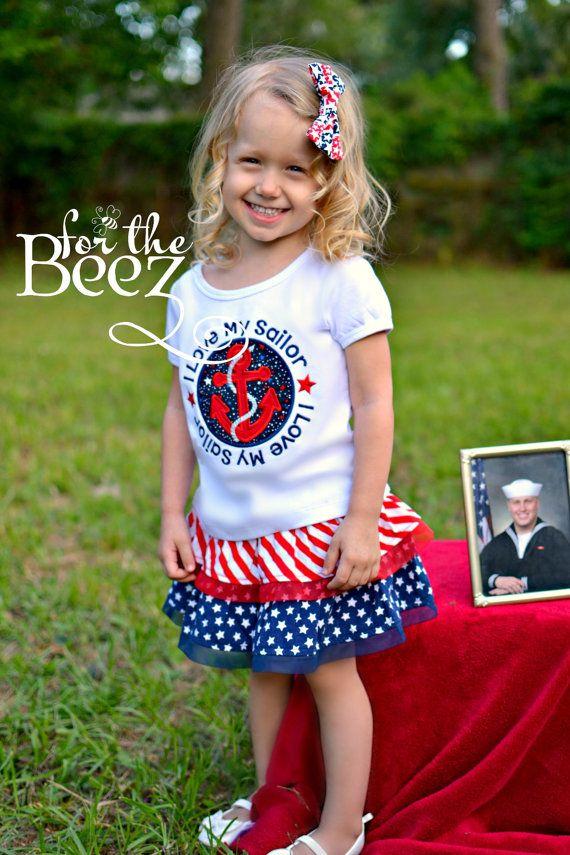 I Love My Sailor Shirt  US Navy Shirt  Boys Sailor by Forthebeez