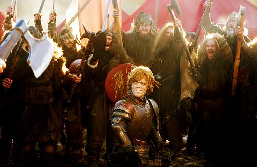"""""""Dwarves show up a lot in fantasy genre, but when they do, they're these sorts of caricatures, woodland creatures or the punchline of jokes,"""" Dinklage says. """"Nobody gives them a romance. Nobody gives them fully formed personalities, and Tyrion is one of the richest characters I have ever come across. He's a human being.""""  — Peter Dinklage"""