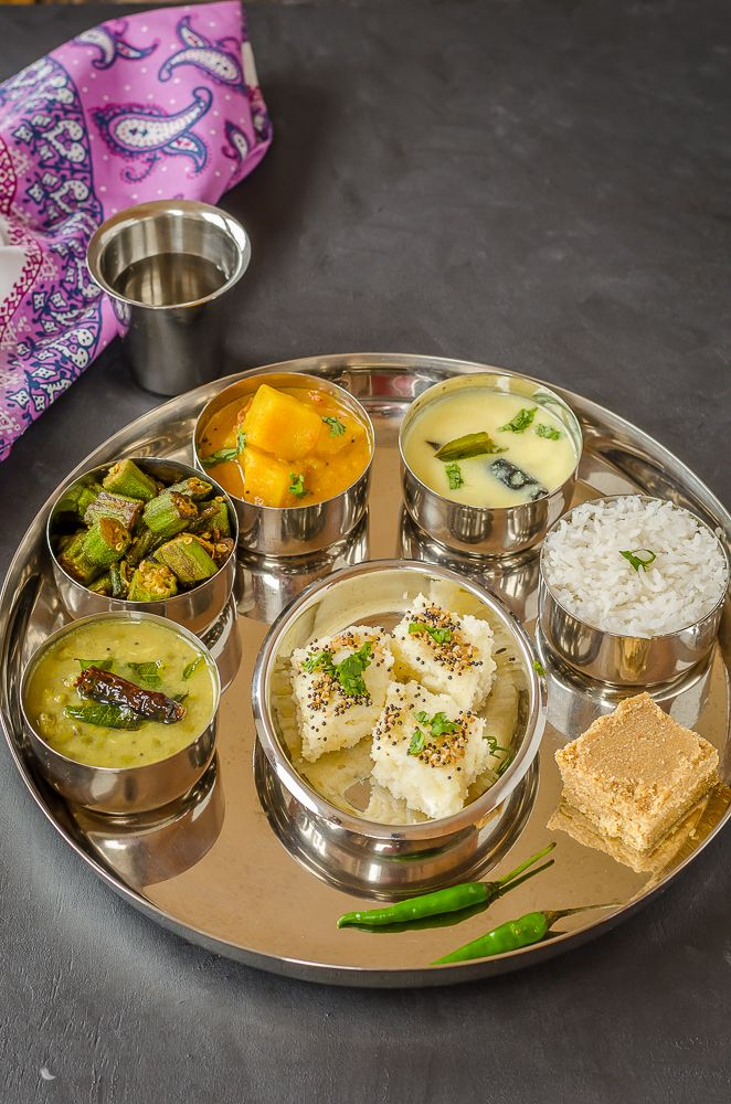46 best indian plattersthali images on pinterest cooking food gujarati thali a meal from indian state of gujarat forumfinder Gallery