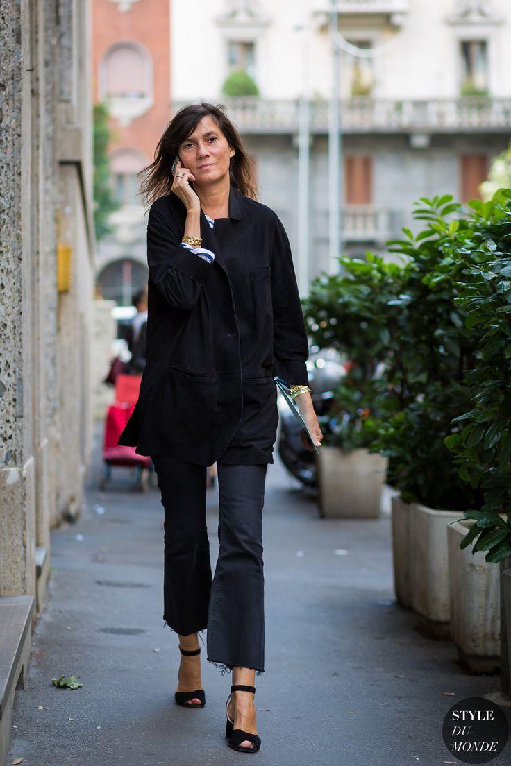 Emmanuelle Alt Street Style Street Fashion Streetsnaps by ...