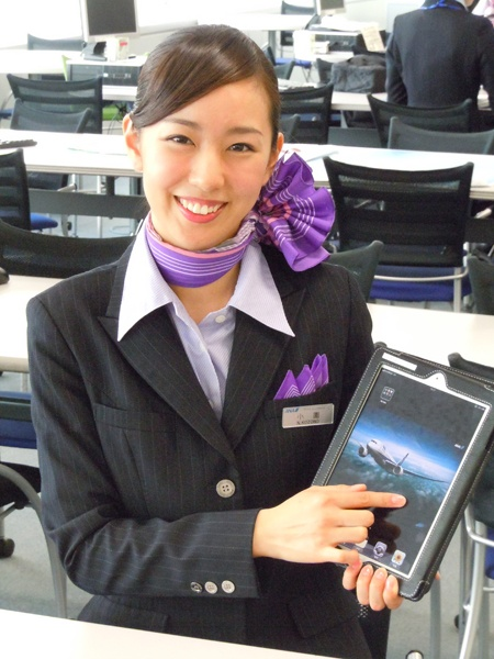 more scarf tying excellence from flight attendants or