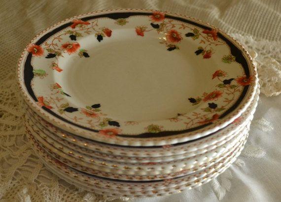Antique transferware ironstone dessert plates  order up to 9