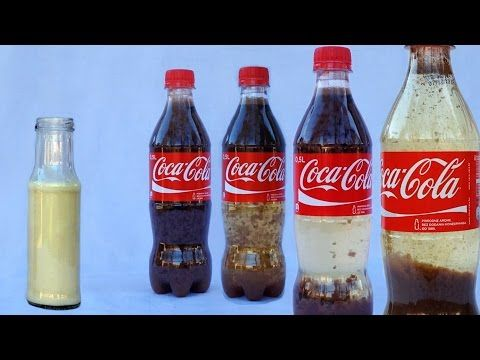 Coca Cola Milk Experiment - Cool Science Experiments with Coca Cola by Home Science - YouTube