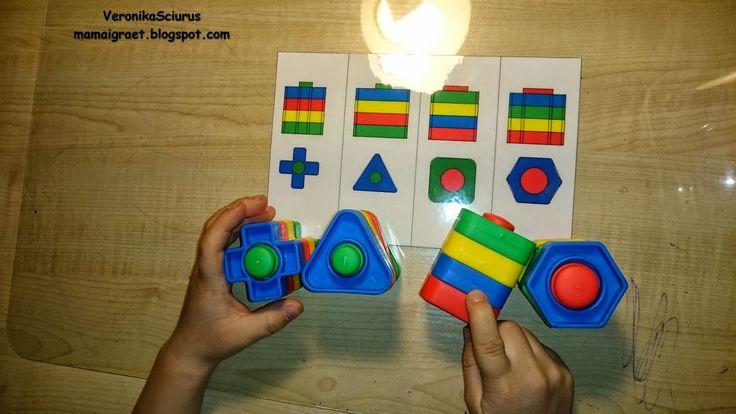 """Развивающие игры с конструктором """"Болты и гайки"""" для детей 1-5 лет, карточки для скачивания."""