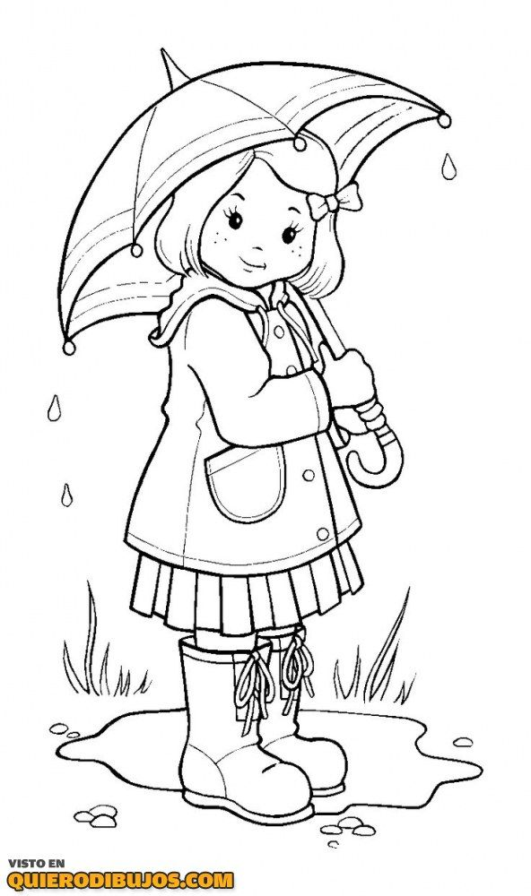 Dibujo Hombre Bajo La Lluvia Buscar Con Google Umbrella Coloring Page Coloring Pictures For Kids Cute Coloring Pages