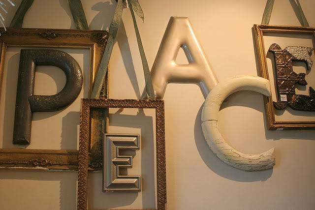 frames and letters...I can do this with other letters....maybe our last name!