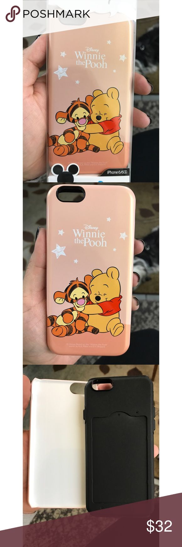 Winnie the Pooh case Super adorable Winnie the Pooh dual protection case for your iPhone 6/6s.  Perfect for those Disney fans (: These are high quality cases, also has a slot for your ID, Debit or credit card. Disney Accessories Phone Cases