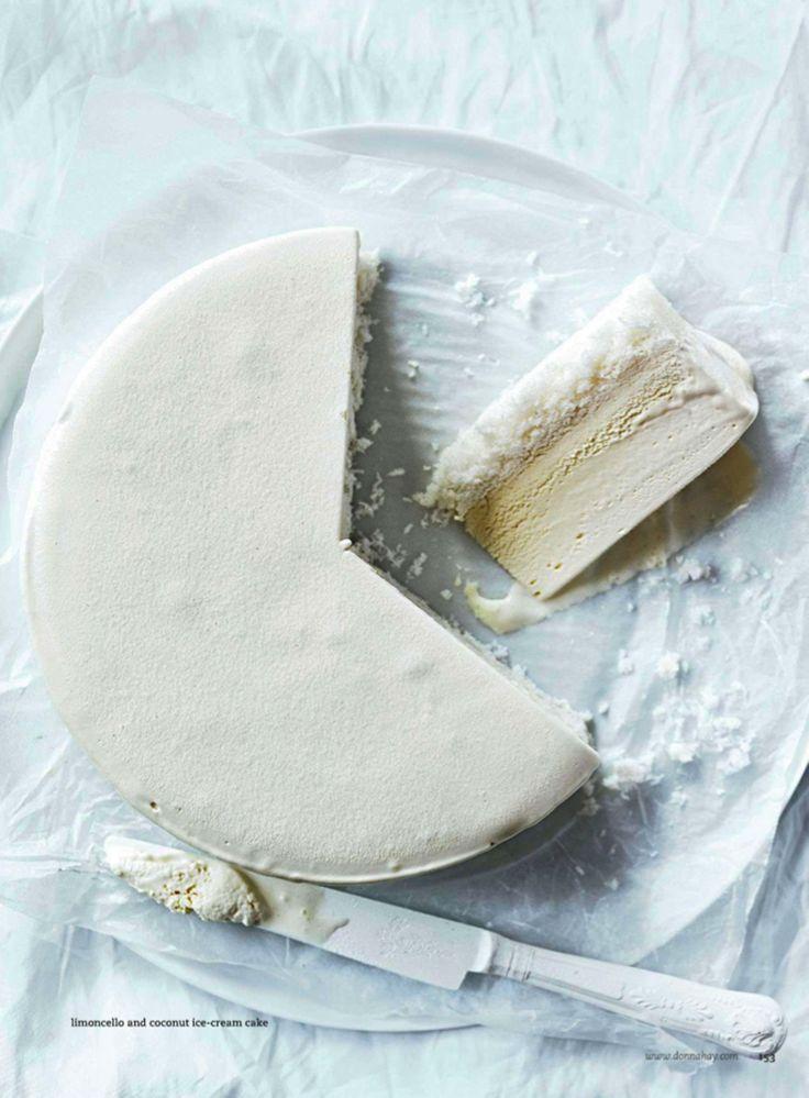 Limoncello + Coconut Ice Cream Cake