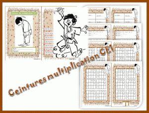 Ceintures multiplication ce1 maths pinterest for Tables de multiplications cm1