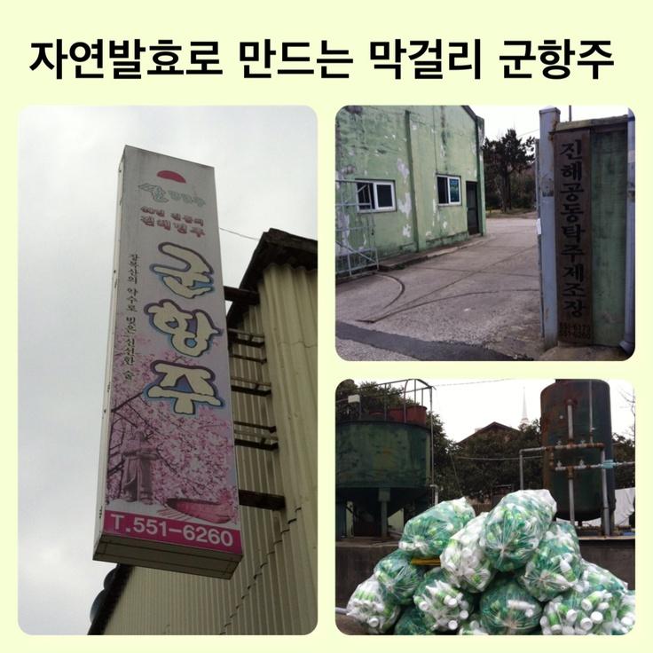 진해 덕산동에 있는 40년 역사의 막걸리 공장