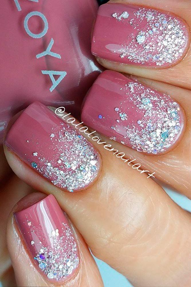 Simple Nail Design Ideas white nail polish black designssimple nail design ideas69706 fingernails designs idea 50 Perfect Pink Nails Designs To Finish Incredibly Girly Look
