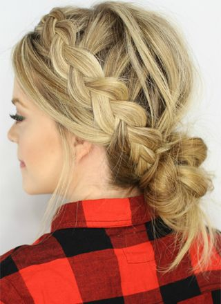 Easy braided low bun updo trendy low bun updo hairstyles 2016