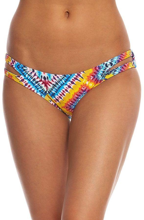 Jessica Simpson Swimwear Surfside Reversible Split Side Bikini Bottom 8158666