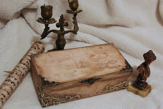 Andromeda, Cassiopeia, Wooden box, Constellation star, Mythology, Planetarium, Vintage box, Gift for her, Make believer,Home decor,Decoupage