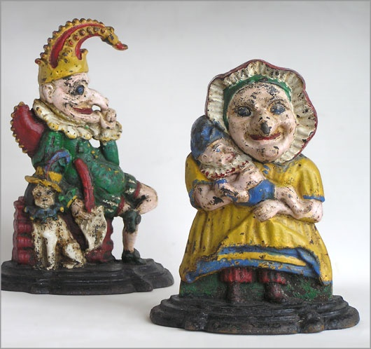 The Vintage Wall - Pair of Victorian Punch and Judy cast iron doorstops - 72 Best Cast Iron Doorstops Images On Pinterest Antique Doors