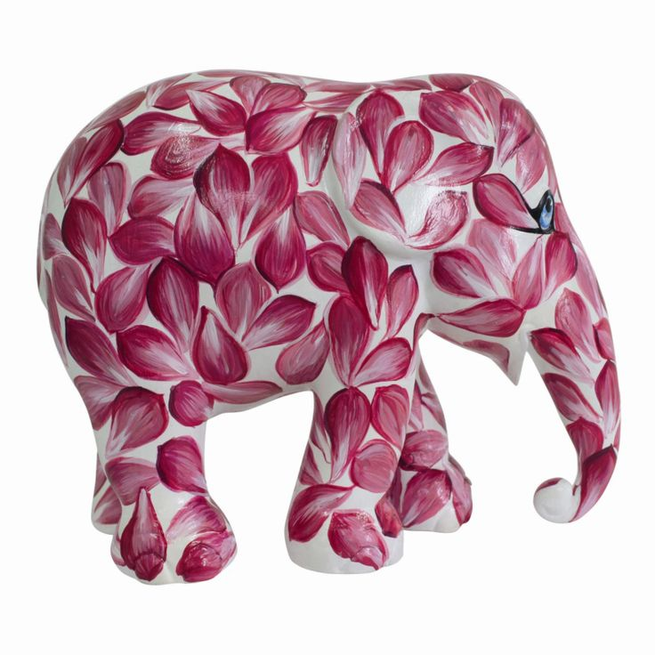 Elephant Parade   10 cm Beauty in Pink   Replica Elephant Statue   Hand Painted   Charity   Elephant Conservation   www.homearama.co.uk