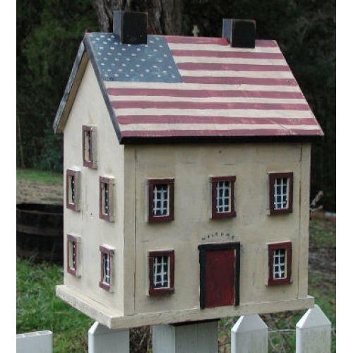 Americana shaker birdhouse