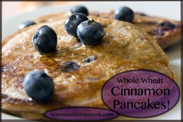 1/4 cup whole wheat flour  1/4 TBSP sugar 1 tsp baking powder 1/8 tsp baking soda 1 tsp cinnamon 1/8 tsp salt  1/8 cup lowfat yogurt 1/8 cup nonfat milk  1/2 TBSP canola oil 1 medium egg Combine dry ingredients, add wet ingredients & mix w/ dry ingredients until blended well. Add more milk if needed. Oil a preheated skillet. Cook until pancake surface begins to bubble and a few have burst, about 1 - 2 mins. Flip & cook 1 - 2 mins more. Serve with berries & syrup. 17 Day Diet compliant…