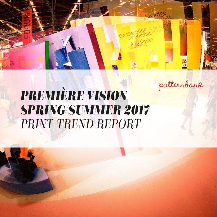 TRENDS // PATTERNBANK - PREMIERE VISION PARIS . PRINT TRENDS - SS 2017