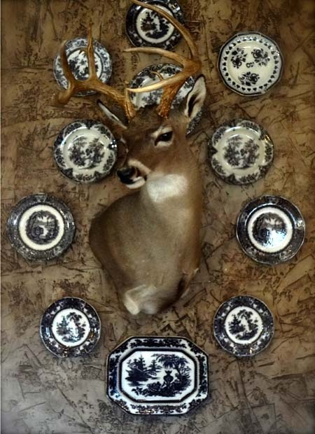 Christi Proctor Interior Designer~ hey if you have to have a deer head~ I like incorporating the design aspect~lol