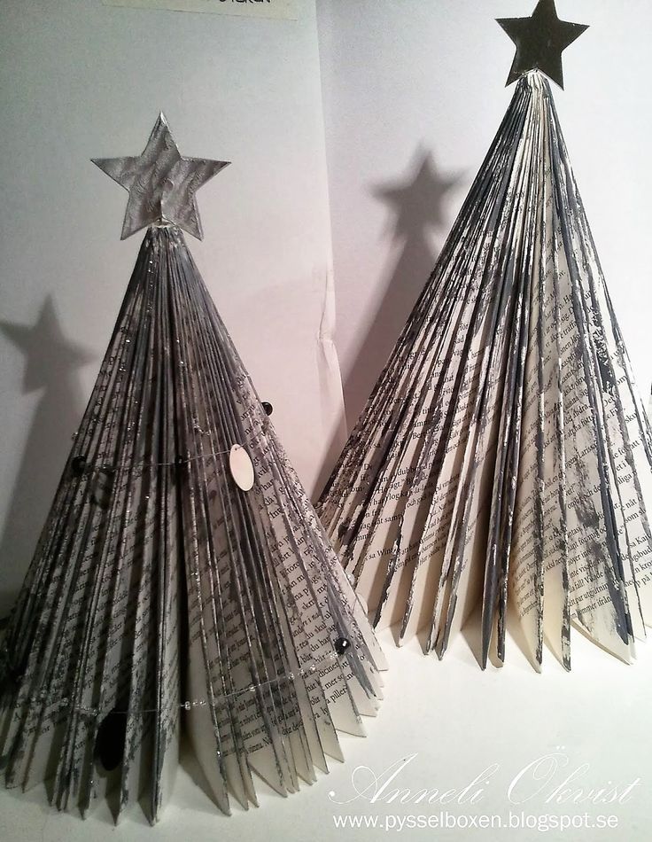 christmas tree from books silver