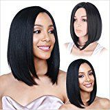 """Nicewig Top Quality Grade 9A 150% Density 100% Unprocessed Virgin Peruvian Human Hair Wig Silky Straight Glueless Full Lace Wig with Baby Hair Around Natural Color 14"""""""