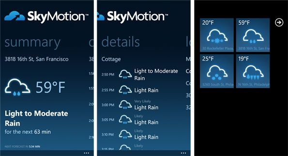 SkyMotion windows phone SkyMotion para Nokia Lumia, nunca una aplicación fue tan precisa
