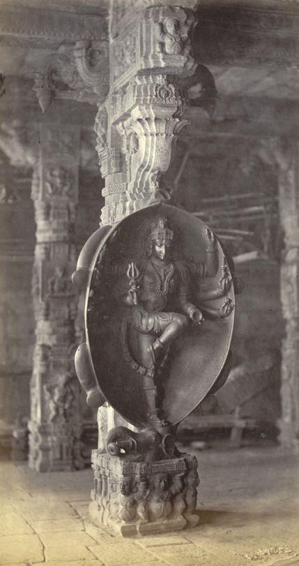 Lord Shiva slaying the elephant demon Gajasura