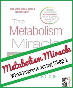 {enjoy the view}: Metabolism Miracle: What Happens During Step 1