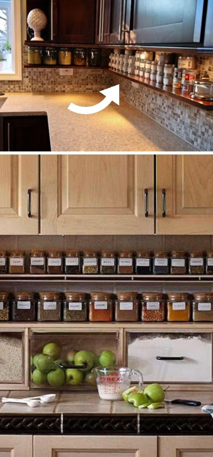 33 Clever Ways To Clutter Free Kitchen Countertops Ideas Designs Clutter Free Kitchen Clutter Free Kitchen Countertops Parallel Kitchen Design