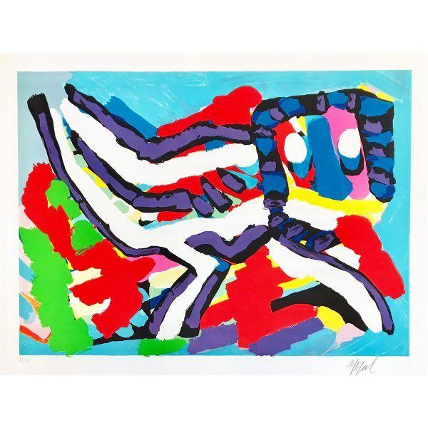 Après Midi D Un Singe Sur La Place De L école Karel Appel Te Koop Kunstwerk Kunstenaar Appels