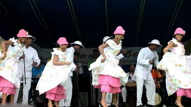 Le ballet de danse folklorique de Basse-Pointe Martinique Danse folklorique à l'occasion de la fête de la banane à Sainte-Marie Martinique Juillet 2012