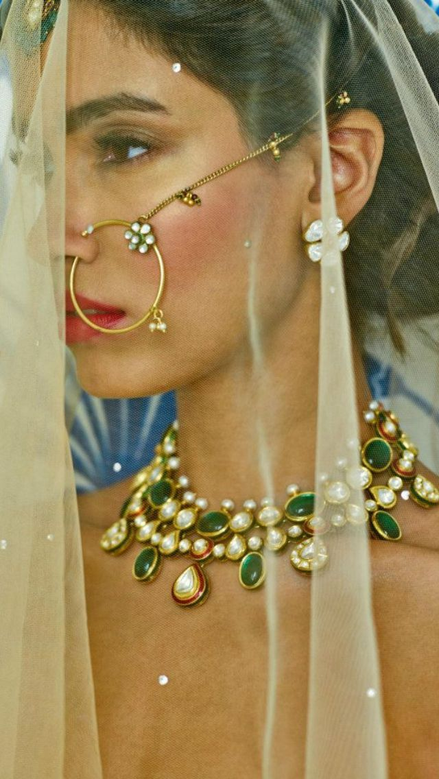 Bridal polki jewellery by Anita Dongre's line - Pink City, Jaipur. Shop for your…