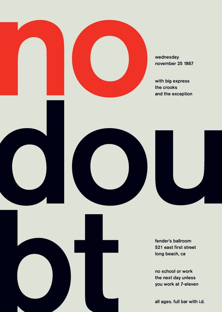 no doubt at fender's ballroom, 1987 | Swissted