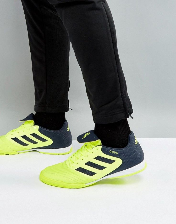 ADIDAS ORIGINALS ADIDAS SOCCER COPA TANGO 17.3 INDOOR SNEAKERS IN YELLOW S77147 - YELLOW. #adidasoriginals #cloth #