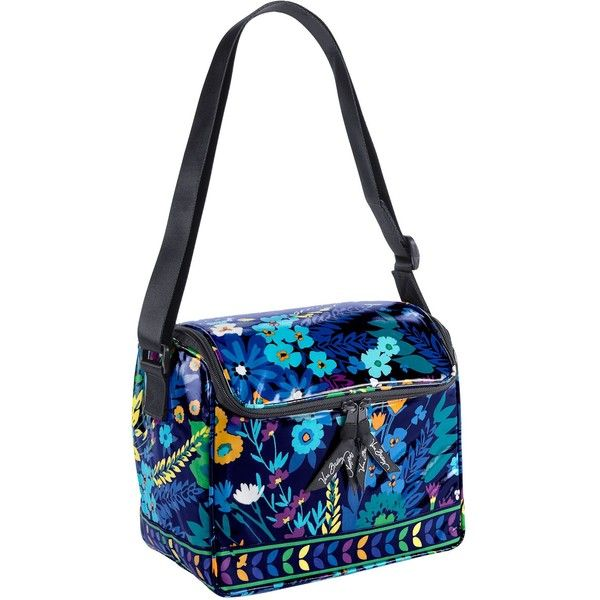 Vera Bradley Stay Cooler Lunch Bag in Midnight Blues (81 BRL) ❤ liked on Polyvore featuring home, kitchen & dining, food storage containers, vera bradley, midnight blues, sale, vera bradley lunch bag, vera bradley lunch sack, lunch cooler and lunch bags