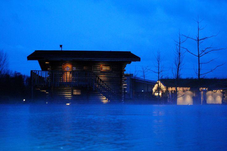 Winter bij de Veluwse Bron.. ben jij ook zo toe aan een warme sauna?