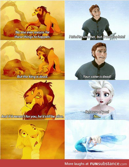 parallels between the lion king and frozen
