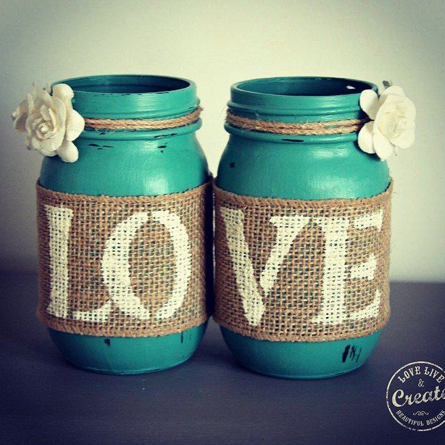 Customized Mason Jars  DIY Home Decor!