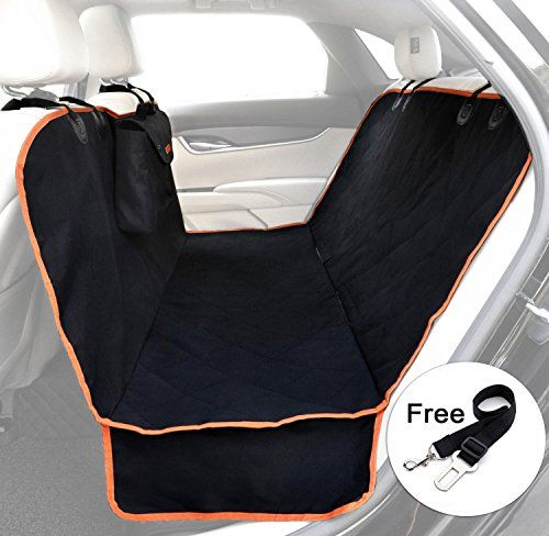 Car Seat Covers For Dogs- Back Seat -Side Flaps- Waterproof Pet Bench Seat Protector Cat Dog Mat Black >>> Want additional info? Click on the image.