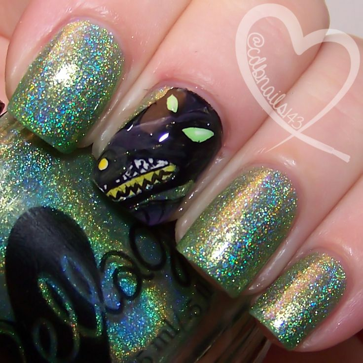 Now Shall You Deal With ME! by ellagee.com with nail art by cdbnails.