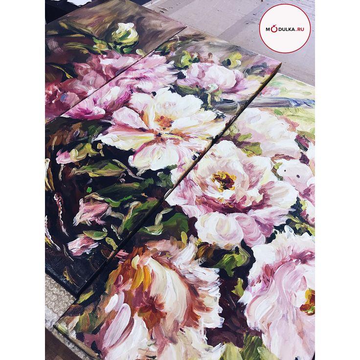 Дорогие мужчины 😎💪🏻 Мы знаем как сложно иногда Вам выбрать подарок для своих любимых женщин😏🤔😅 Сделать приятно любимой девушке👸🏽 или жене 👰🏻поздравить маму 👩🏻с праздником или скрасить будни любимой бабули👵🏻 Живая картина с цветами 💐принесёт радость 😄и будет греть сердце теплотой долгие годы ❣️, напоминать о Вашей заботе и искренности☺️✨ #modulkaru #модульныекартины #картинынахолсте #художник #инстаарт#портрет #картинымосква #исскусиво #картинавдом #картинадляинтерьера…